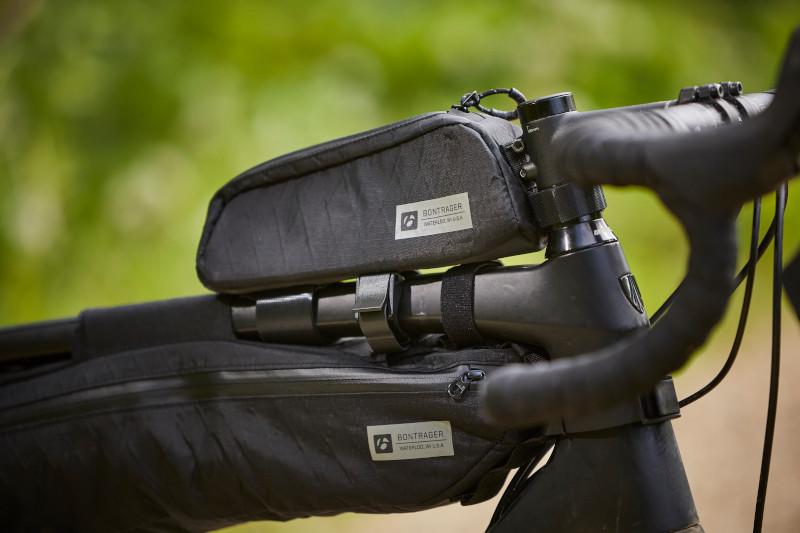 adventure bike with top tube bag and frame bag